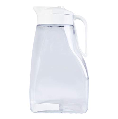 High Heat Resistant One-touch Airtight Pitcher 3.1QT (99oz) for Water, Coffee, Tea, Other Hot or Cold Beverages | Leak Proof & Space Saving, Dishwasher Safe, BPA Free | Made in Japan ()