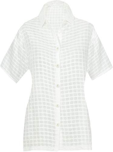 LA LEELA Womens Relaxed Hawaiian Shirt Short Sleeve Blouse Tops Shirt Hand Paint