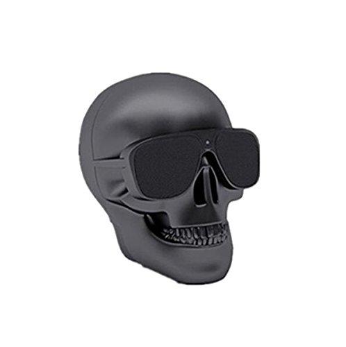 BeatlesStore(Black) Hot sell New Portable Metal Skull Glasses Wireless Bluetooth Super Bass NFC Speaker