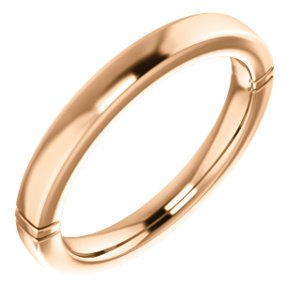 Jambs Jewelry 14K Rose 6x3 mm Marquise Wedding Band