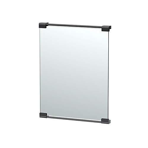 "Gatco Fixed Mount Rectangle Mirror, 24"", Matte Black"