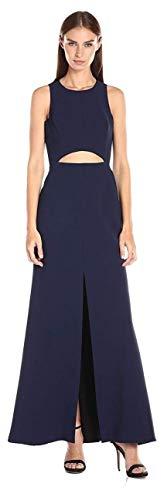 BCBG Max Azria Women's Veranna Cutout Lace Back Sheath Dress, Dark Navy Blue, Size 6