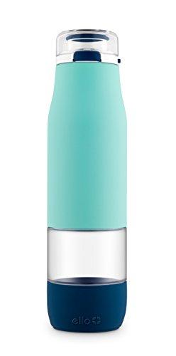 Ello Aura 24oz Glass Water Bottle (Blue)
