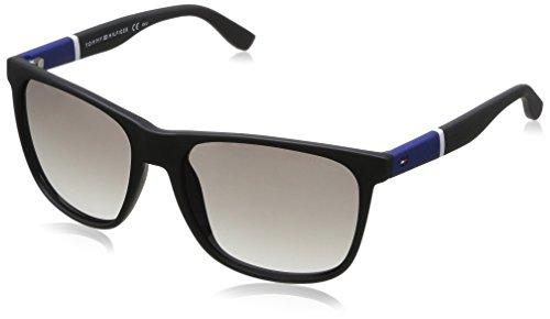 Tommy Hilfiger Thilfiger 1281/S 0FMA Matte Black IC gray mirror shaded silver lens Sunglasses (Sunglasses Mirror Gray Silver)