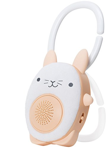 SoundBub, White Noise Machine and Bluetooth Speaker | Portable and Rechargeable On-the-Go Baby Shusher & Sleep Aid Sound Soother by WavHello - Bella the Bunny, White (Cars White Play)