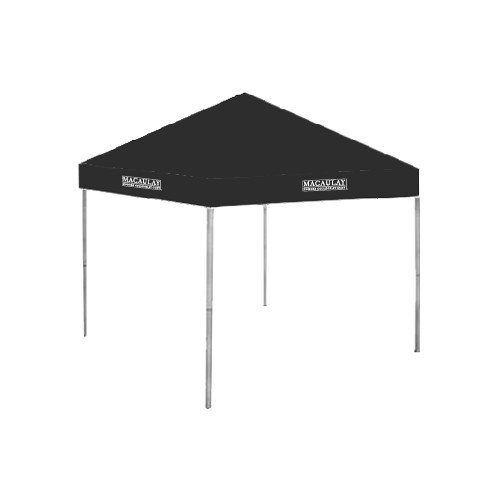 Macaulay Honors 9 ft x 9 ft Black Tent 'Official Logo' by CollegeFanGear
