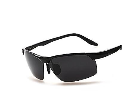 JUHKJHIK Portátil Gafas de Marco de magnesio de Aluminio PanpA Llevar Sobre Gafas de Sol para