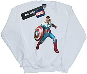Marvel Herren Falcon is Captain America Sweatshirt Weiß XXX-Large