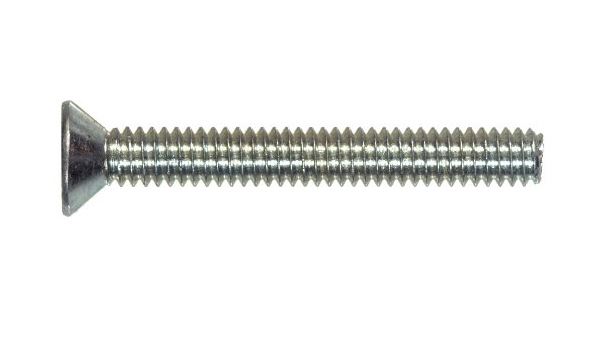 25-Pack The Hillman Group 43642 M3-0.50 x 6 Metric Flat Head Phillips Machine Screw