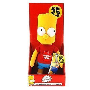 The Simpsons 25th Anniversary 14'' Bart Simpson Collectible Plush with (25th Anniversary Bear)