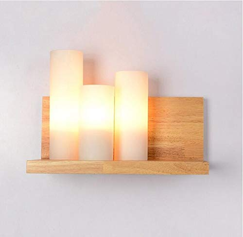 Garden Log American Swing - Simple Wooden Bedside lamp Nordic Wall lamp Balcony Aisle lamp Solid Wood Hotel Bedroom Side Candy logs A+