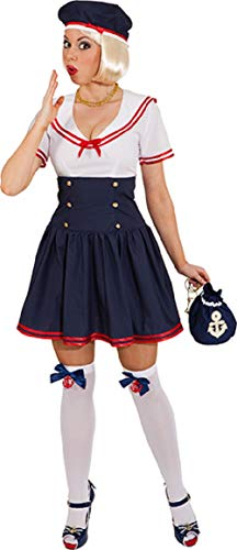 Ladies Sweet Sailor Navy Captain Uniform Wren Carnival Fun Fancy Dress Costume Outfit UK 8-16 (UK 14 (EU 42))