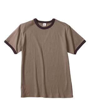 Canvas Men's Robertson Heather Ringer T-Shirt, Heather Brown/Brown, 2XL