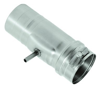 DuraVent FSHDT4 Horizontal Drip Tee for 4 Inch FasNSeal Vent Pipe From the FasNSeal Series
