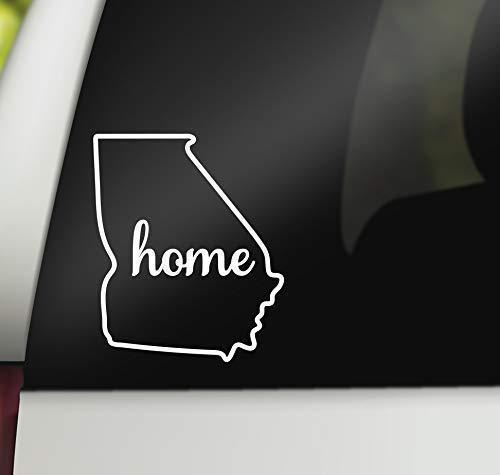 Georgia home decal for car white vinyl