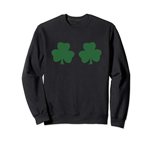 Sweatshirt Shamrock - St. Patricks Day Shamrock Breasts Boobs Sweatshirt