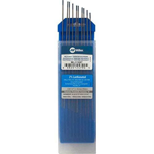 """Miller Weldcraft WL2116X7 2% Lanthanated Tungsten Electrode 1/16 X 7"""""""