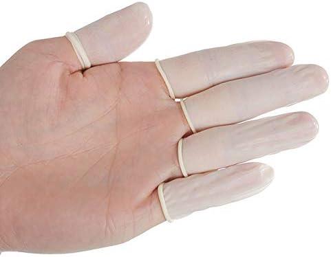 Pingxia Latex-Fingerlinge Finger Handschuhe Protective One-Off Rubber Latex Finger Cots Fingertips Gloves, 700 Stück