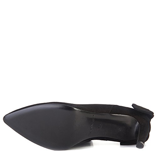 Carven Mujeres Bow-back Pump Zapatos 902sc103 Negro