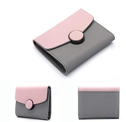 Uomo Kervinfendriyun In color Pastello Portafoglio Tasca Color Pelle Da Pink White Minimalista Yy4 xw8wqC