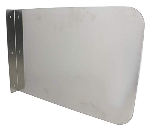 """ACE SP-S1712 Wall Mount Stainless Steel Splash Guard for Hand Sink/Prep Sink, 17"""" x 12"""""""