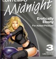 Contempo Midnight, 3 Latex Condoms (Pack of 6)