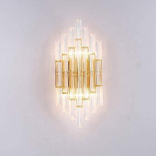 Wall Lights Modern Light Bedroom Dining Room Living Room Villa Wall Lamp Crystal Metal Bedside Lamp Lighting 3-8 Square Meters Wall Lamp