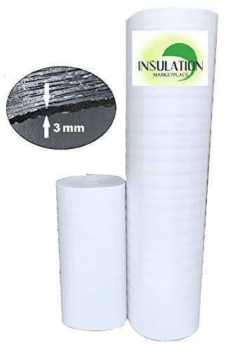 "SmartSHIELD -3W 48""x50ft Reflective Insulation roll, Foam Core Radiant Barrier, Thermal Insulation Shield, Commercial Grade 48"" x 50"