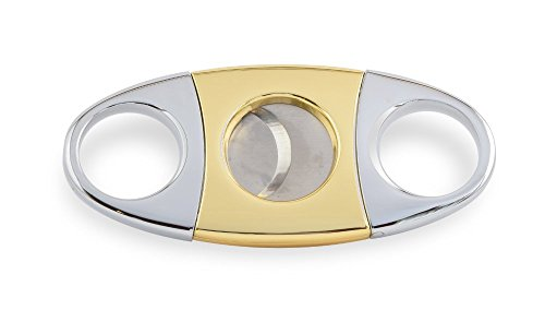 Buck Magnussen Stainless Steel Guillotine Cigar Cutter, Gold, 56 Gauge (Cigar 56 Ring Cutter)