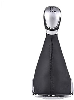 Palanca de Cambios de 5 velocidades con Cubierta a Prueba de Polvo Kit de Cambio de Perillas de Cambio de Marchas para Focus 2005-2008 2010-2012