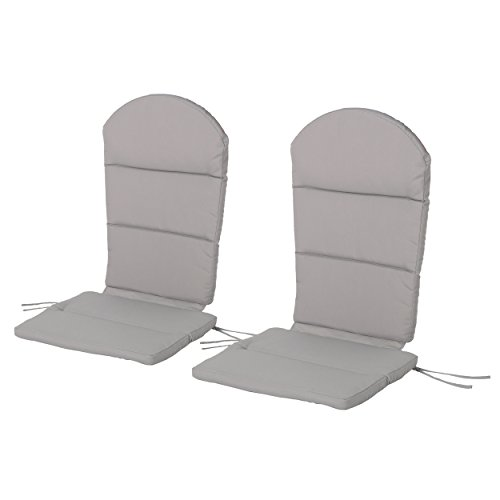 Great Deal Furniture Terry Outdoor Adirondack Chair Cushion (Set of 2), Grey