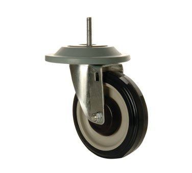 FocusFoodService FTCAST5 5 in. Threaded Caster Set - 4 - with Bumpers by Focus Foodservice