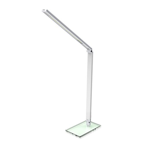 Amzdeal 5W LED Schreibtischlampe dimmbar 48 LEDs 5500 Kelvin tageslichtweiß