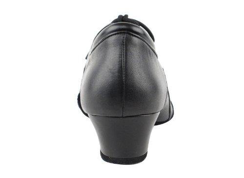 Chaussures Très Fines Hommes Latine Et Rythme Concurrentiel Danseur Série Cd9320 Avec 1,5 Talon (11,5, Cuir Noir)