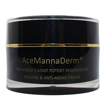 AceMannaDerm Anti-Aging Cream for; Eczema, Psoriasis, Dermatitis, Rosacea, rashes, wrinkles, blemishes, acne, discoloration, crow's feet, and all age-related skin issues. (50ml)