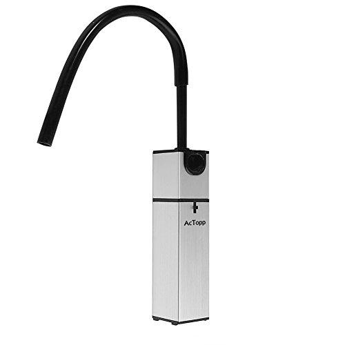 ACTOPP Smoking Gun Food Smoker Smoke Infuser to Enhance Taste Cocktail Whisky Beverage Cool Smoke Kitchen Outdoor BBQ (silver-New package)