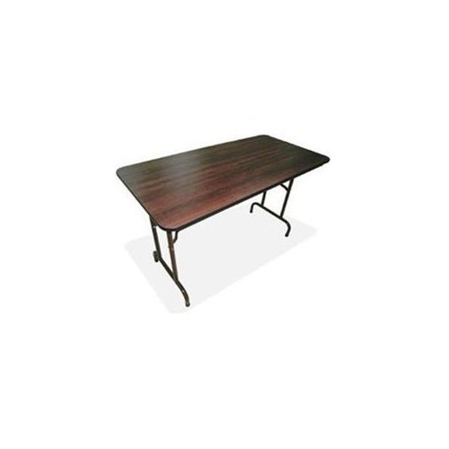 Lorell Folding Table, 60 by 30 by 29-Inch, Mahogany LLR65755