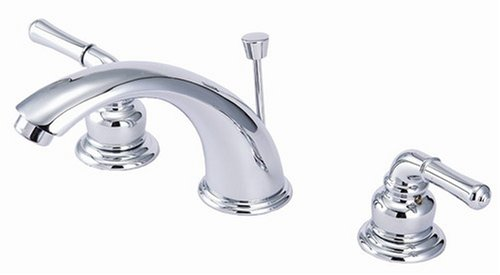 8'' Widespread Lavatory Faucet, Chrome Finish, Washerless - By Plumb USA