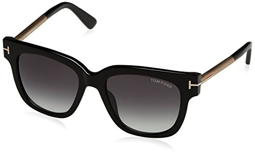 Tom Ford Women's Tracy TF436 TF/436 01B Black/Beige Fashion Sunglasses - Tracy Ford