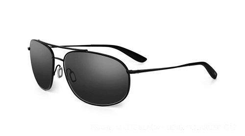 Kaenon Ballmer Men's Polarized Designer Sunglasses - Matte Black/Grey One - Kaenon Kore Sunglasses
