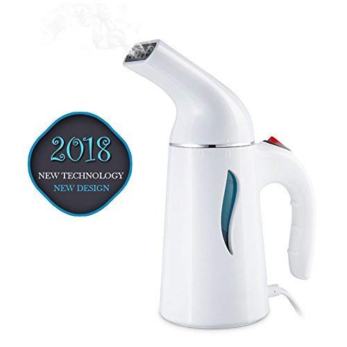 Clothes Steamer, Walbest Portable Garment Steamer Fast-Heat Powerful Handheld Clothing Steamer with Automatic Shut-Off Safety Protection, 140ml Capacity Perfect for Home and Travel (White)]()