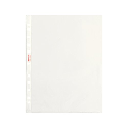 Esselte Perforated Envelopes, Copy Safe de Luxe, Transparent, Document Holder 22x30 Transparent