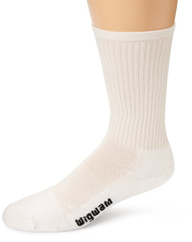 Wigwam Men's Cool-Lite Pro Crew Socks, White, Sock size : Medium/Shoe Size : Men's 5-9.5 , Women's 6-10