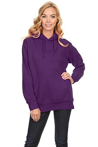 (Simlu Fleece Pullover Hoodies Oversized Sweater Reg and Plus Size Sweatshirts Purple Medium)