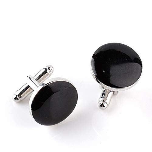 - Potelin Fashion Round Men's Two-tone Cufflinks French Cufflinks Shirt Sleeve Nail Round Studs Gift Accessories,Black Durable and Useful