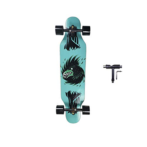 SHINPORT 8.25x31 Inch Small Longboard Skateboard for Cruising Commuting Carving Freestyle Freeride