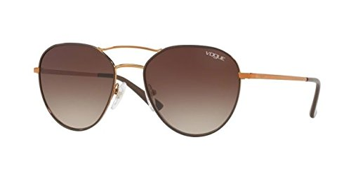 Ray-Ban Women's Metal Woman Aviator Sunglasses, Copper/Brown, 54 - Ray Aviator Ban Female