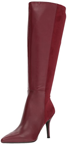 Nine West Women's FALLON9X9W Leather, Wine/Wine Wide Leather, 6.5 M US