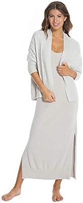Barefoot Dreams THE MALIBU COLLECTION WOMENS HEATHERED MAXI DRESS LARGE