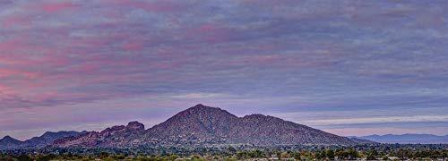 Arizona Fine Art Mural Photograph - Camelback Mountain Sunset - Huge high-resolution panorama up to 10' x 4'